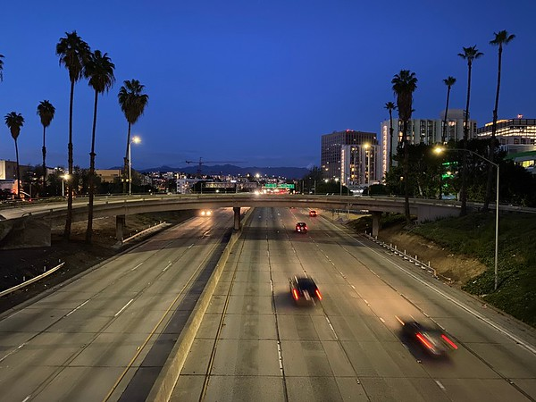 """Empty L.A. Freeway"""