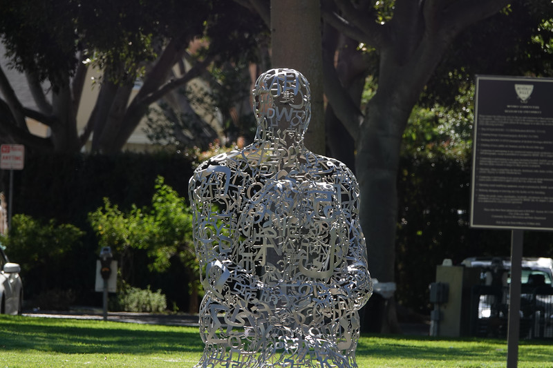Scuplture in a Beverly Hills park.
