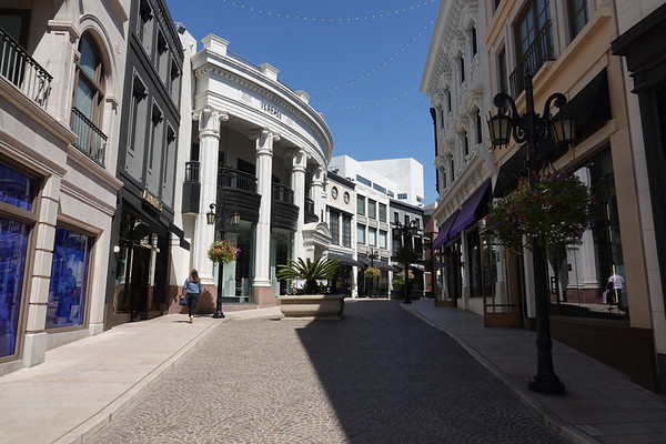 The Two Rodeo mini-mall, just off Rodeo Drive in Beverly Hills.