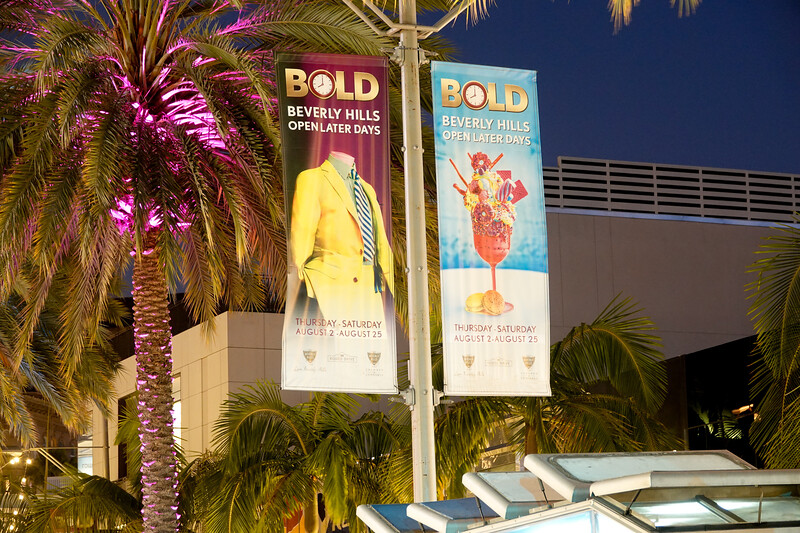 BOLD nights in Beverly Hills on Rodeo Drive