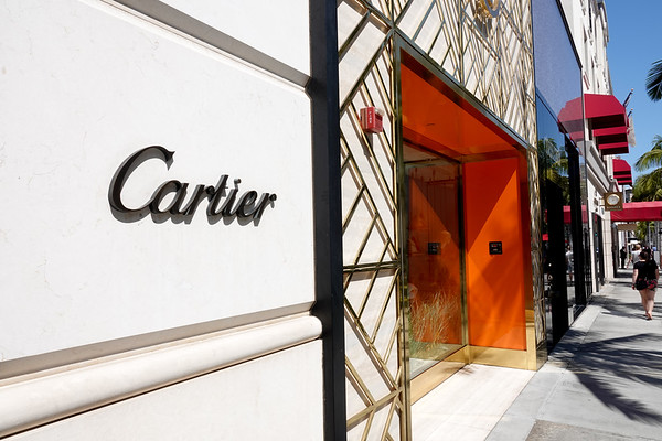 The storefront for the Rodeo Drive Cartier store