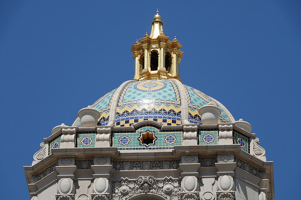 The top of the historic Beverly Hills City Hall
