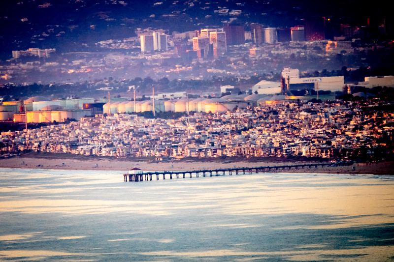 Manhattan Beach as seen from Palos Verdes