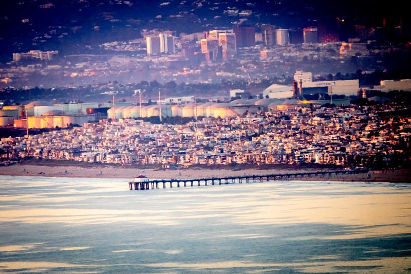 Manhattan Beach as seen from Palos Verdes