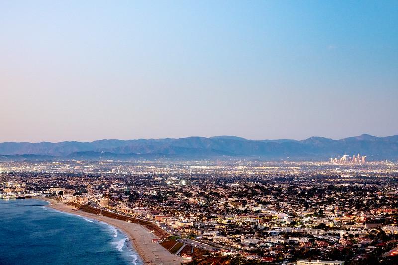 Redondo Beach and downtown LA during Santa Ana