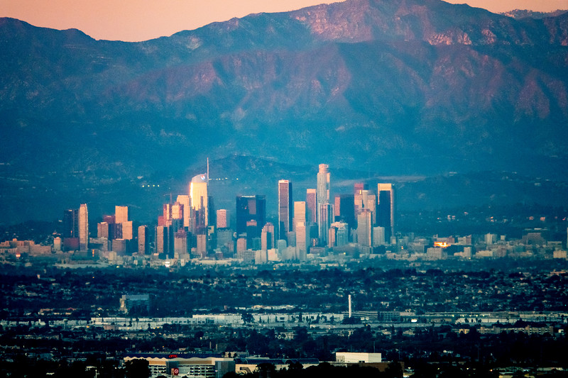 Downtown Los Angeles, from Palos Verdes