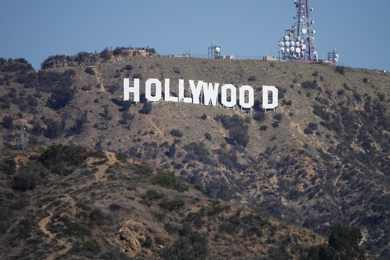 The iconic Hollywood sign