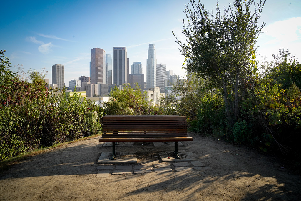 Vista Hermosa Park bench - DTLA Instagram moment no. 1