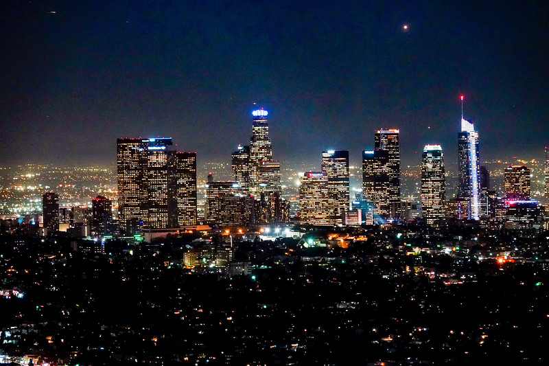 The DTLA Los Angeles Skyline