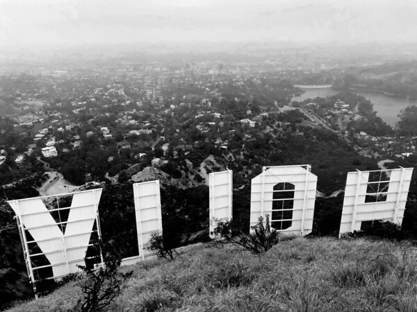 The Hollywood Sign, from behind