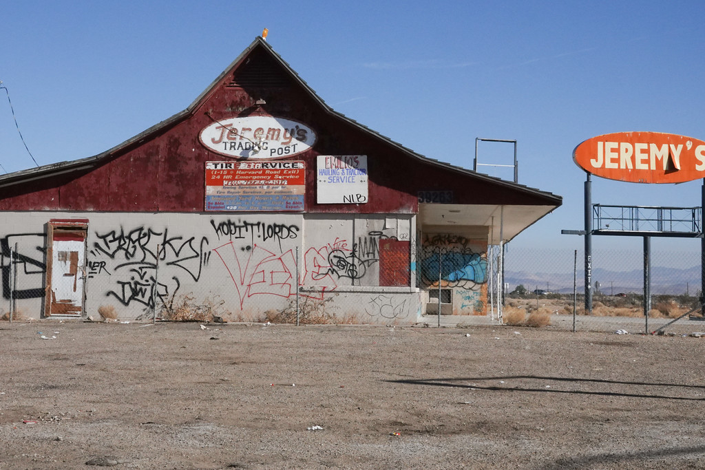 Jeremy's was once a trading post off Route 15, between Las Vegas and Los Angeles