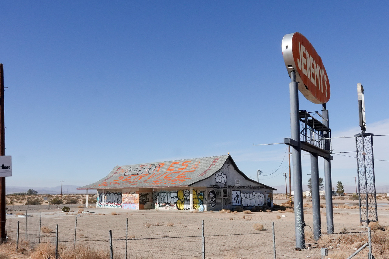 The site of the former Jeremy's gas station/market off Route 15 in California