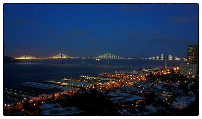 Night shot of the Day Bridge