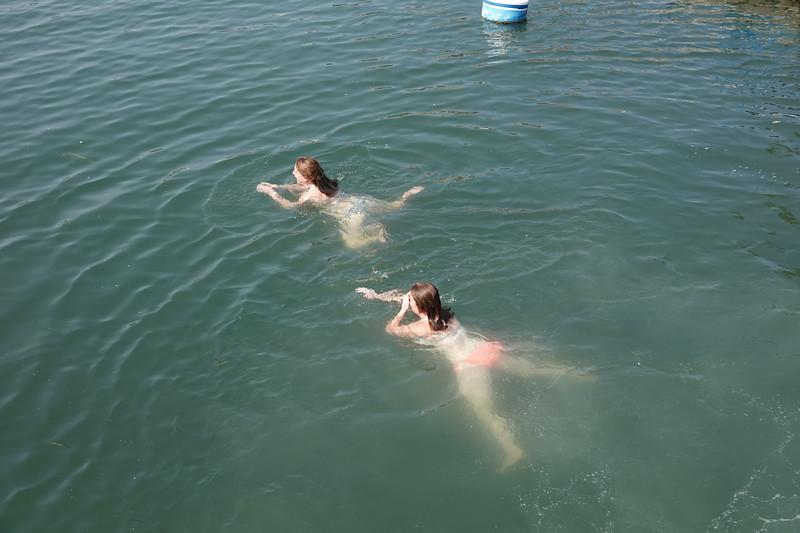 Taking an afternoon swim