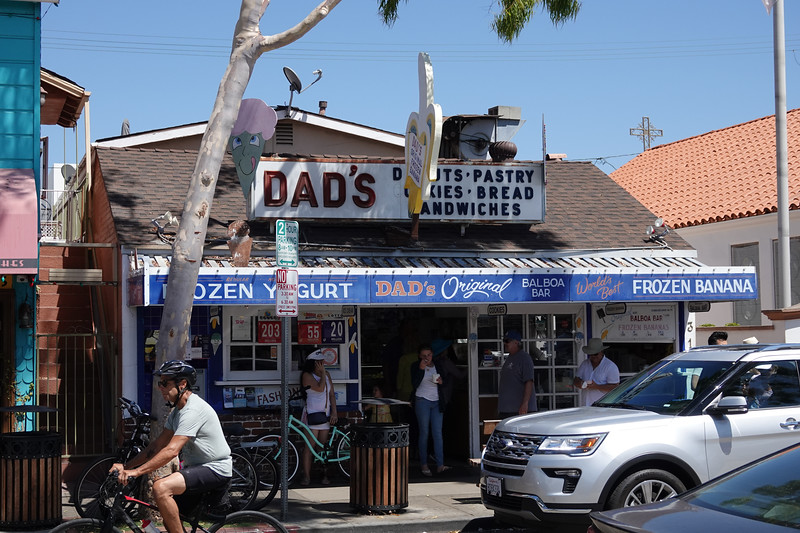 Dad's Donuts, home to the original Balboa Bar on Balboa Island.
