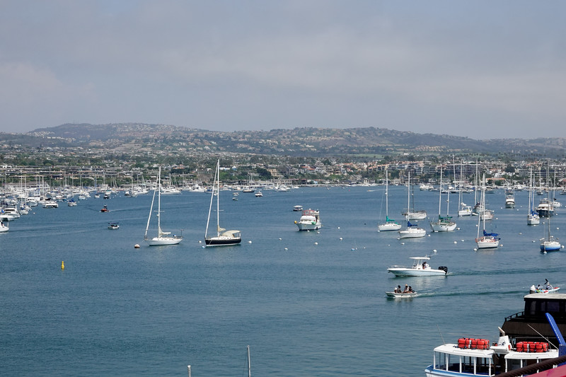 View of Newport Harbor from atop the Balboa Peninsula Ferris Wheel