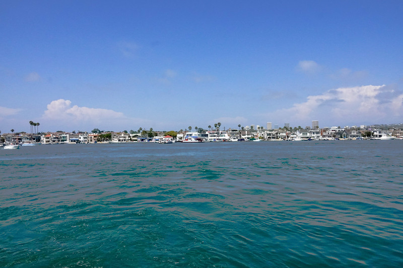 Looking out at Balboa Island from the Balboa Ferry