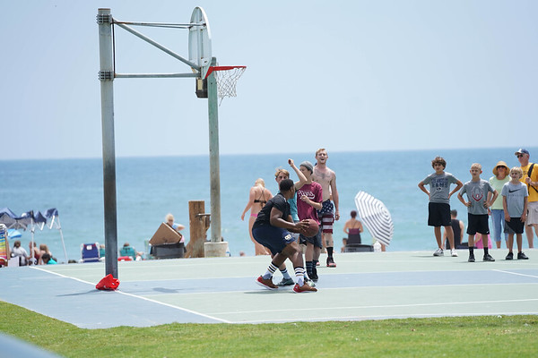 Playing hoops in downtown Laguna is a tradition