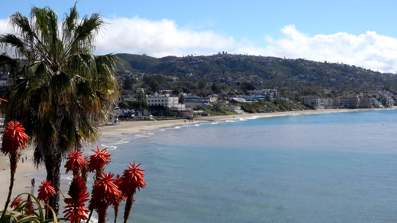 The Laguna Beach coast