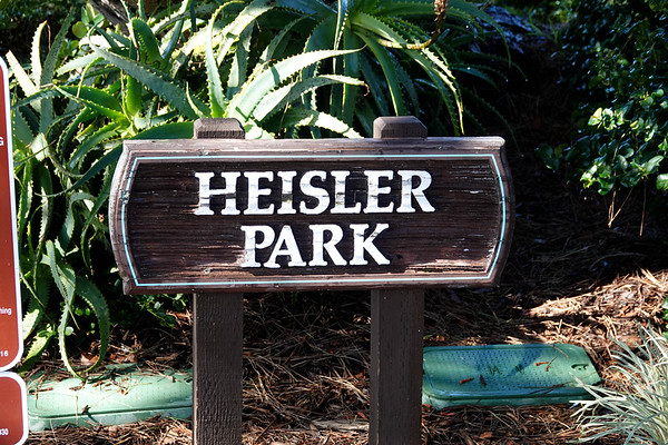 Heisler Park ios the main partk in downtown Laguna Beach, with the best view of the coastline, and a popular Gazebo for looking down at the rocks and coast