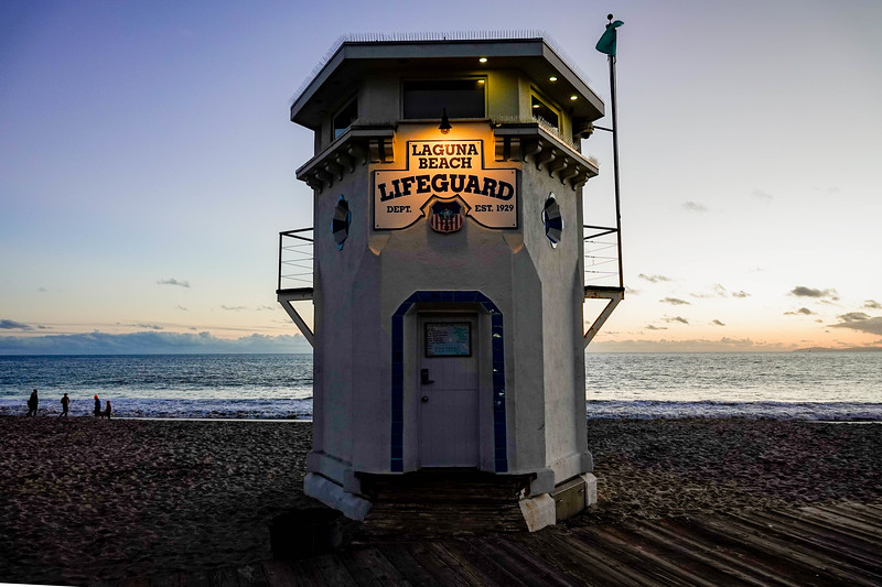 The Laguna Beach Lifeguard station is one of the local icons.