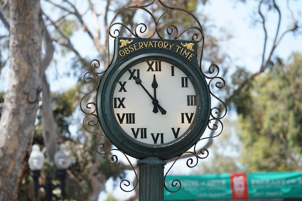 A down town Laguna Beach clock
