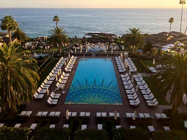 The hughe swimming pool at the MontageLaguna Beach