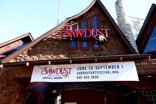 The Sawdust Festival is a summer tradition, a street art fair