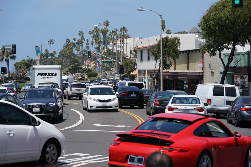 Saturday afternoon on the Coast Highway in Laguna Beach