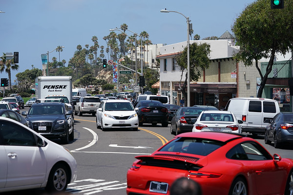 Saturday afternoon on the Coast Highway in Laguna Beach