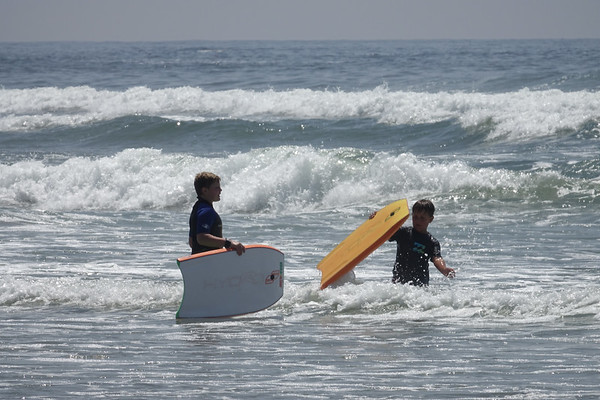 Boogie boarding in the oceans of Cannon Beach