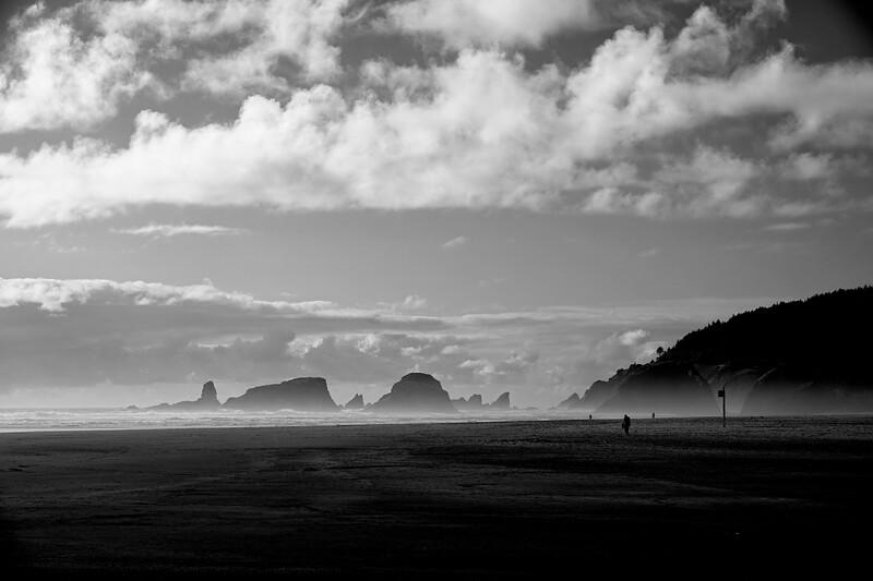 Morning fog in Cannon Beach, Oregon