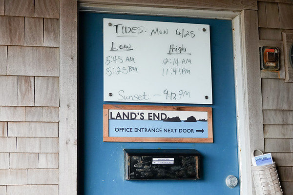 The tide time tables are posted all over town in Cannon Beach