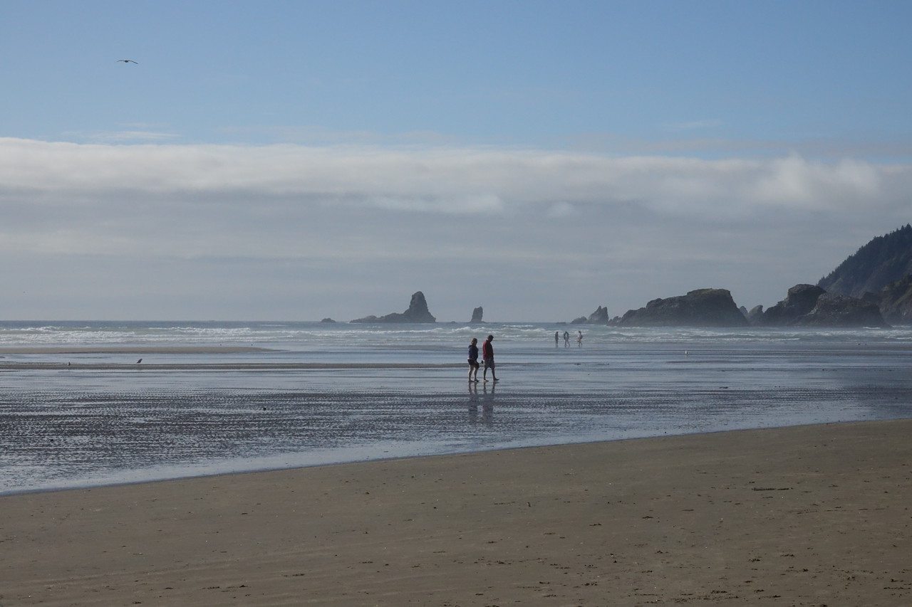Walking in Cannon Beach