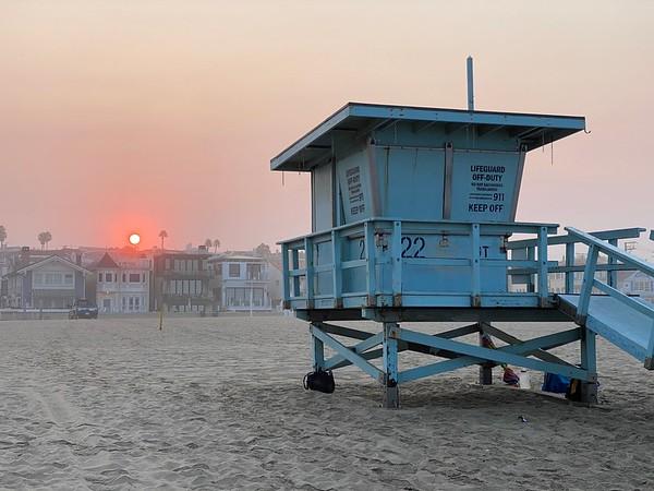 """Sunrise during a Santa Ana"""