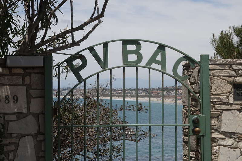 The gate to the Palos Verdes Beach and Atlentic Club