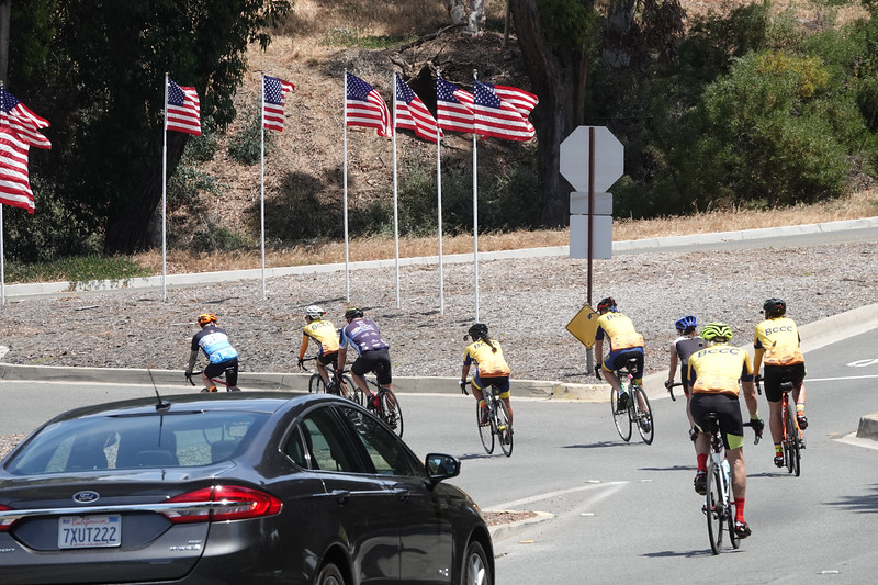 Cyclcing is very popular in Palos Verdes, especially on weekends.