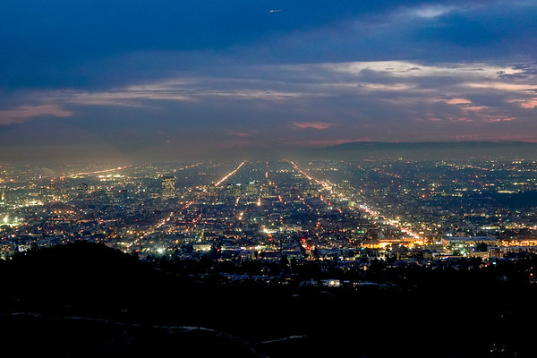 The city lights of Los Angeles