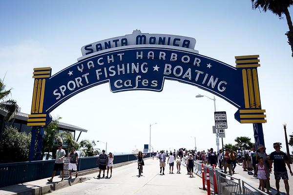 The Santa Monica Pier, in Santa Monica, California