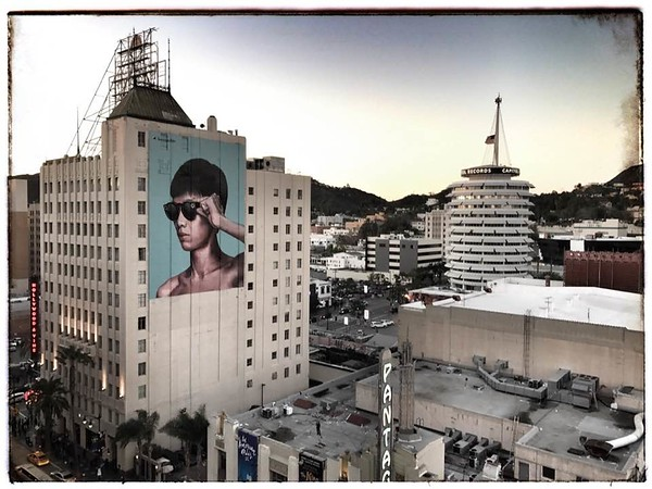 From atop the W Hotel in Hollywood