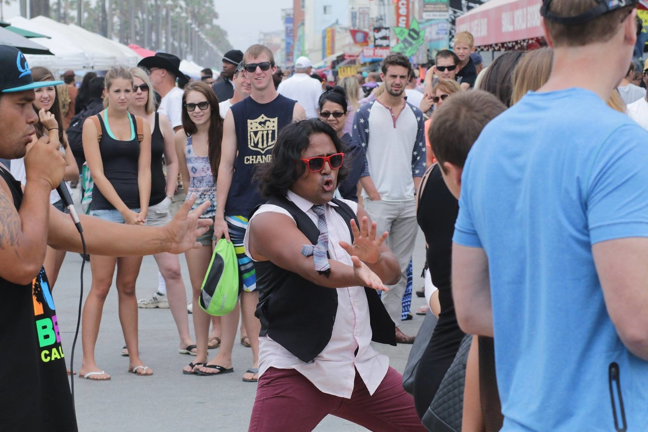 Venice Beach street performer