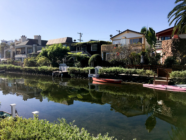 The Venice Canals are a popular place for tourists to visit