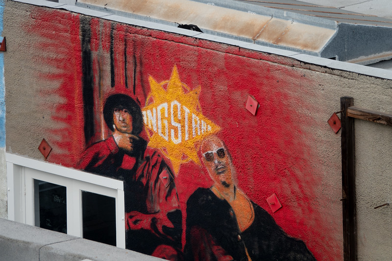 A mural on the side of a Venice Beach building on Windward Avenue