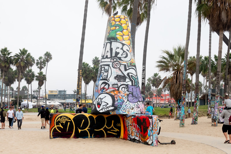 A public art space in Venice Beach.