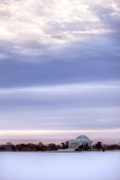 Jefferson Memorial in the Snow