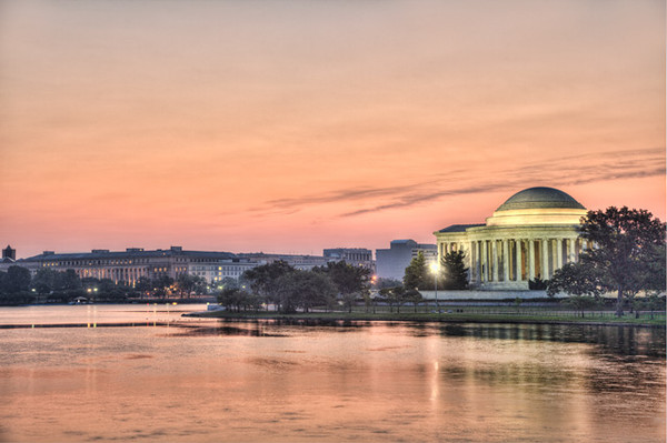 Peach Color Sunrise at the Jefferson