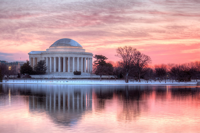 The Jefferson Memorial in the Snow