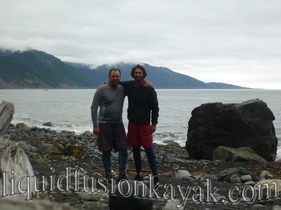 Jeff and Hawk at Shipman Creek.