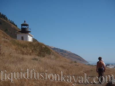 Hiking to the Punta Gorda Lighthouse.