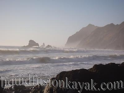 Lots of big waves still.